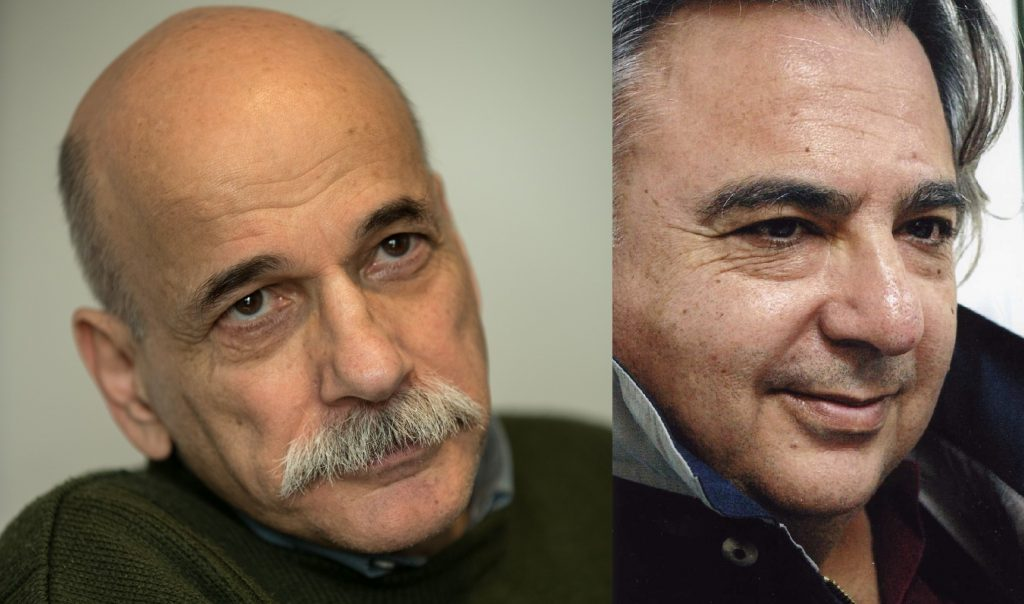 Ο Κώστας Καζαμιάκης συνομιλεί με τον Θάνο Παπαθανασόπουλο